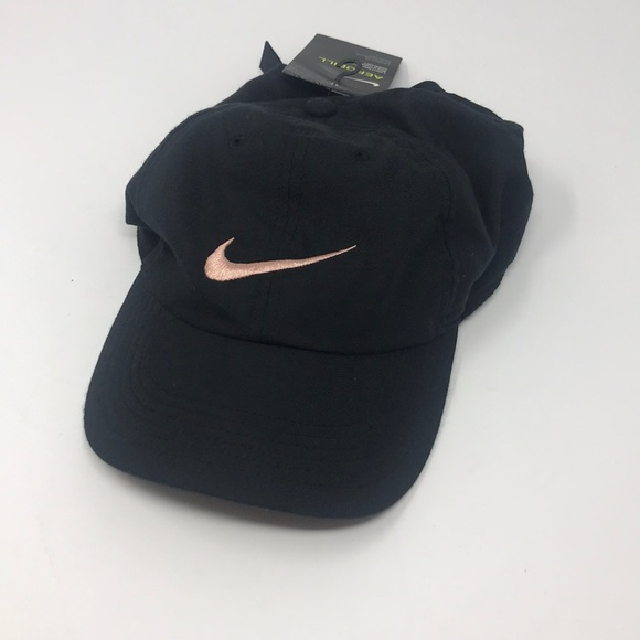 Nike Dri Fit Hat black and rose gold a03040fef47